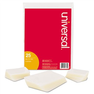 UNIVERSAL OFFICE PRODUCTS Clear Laminating Pouches, 3 mil, 9 x 14 1/2, 25/Pack