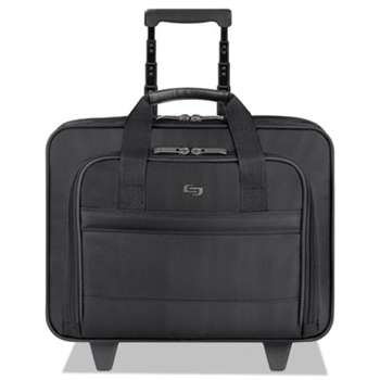 "UNITED STATES LUGGAGE Classic Rolling Case, 15.6"", 15 47/50"" x 5 9/10"" x 12"", Black"