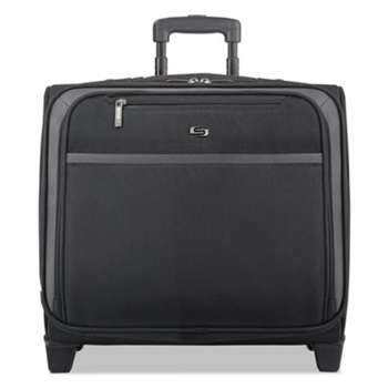 "UNITED STATES LUGGAGE Pro Rolling Overnighter Case, 16"", 15 1/2 x 8"" x 11, Black"