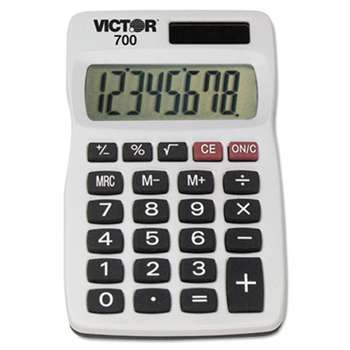 VICTOR TECHNOLOGIES 700 Pocket Calculator, 8-Digit LCD