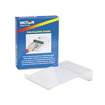 VICTOR TECHNOLOGIES Large Angled Acrylic Calculator Stand, 9 x 11 x 2, Clear