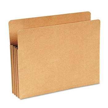 "WILSON JONES CO. Recycled 3 1/2"" Expansion File Pocket, Straight Cut, Letter, Kraft"