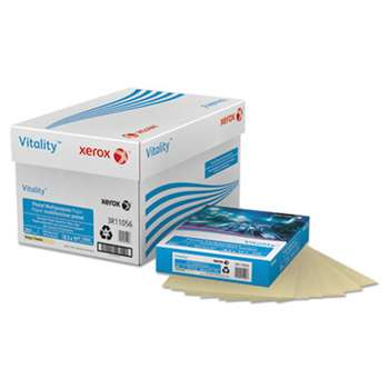 XEROX CORP. Vitality Pastel Multipurpose Paper, 8 1/2 x 11, Ivory, 500 Sheets/RM